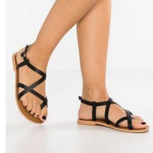 Topshop black  Teensandalen strappy sandal